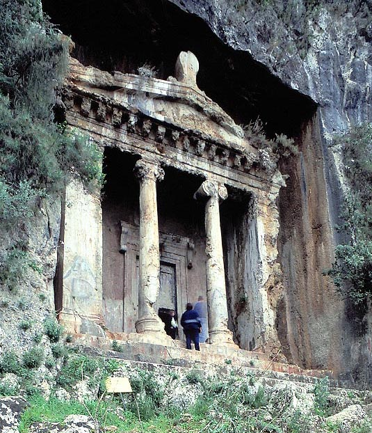 The Lycian rock-carved tomb of Amyntas in Telmessos