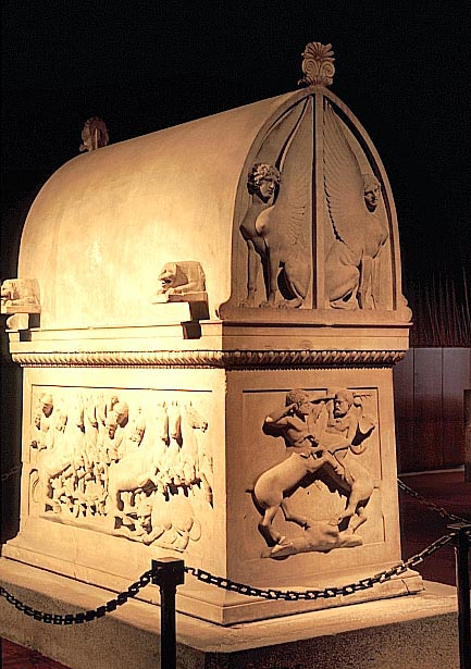 The Decorative Lycian Sarcophagus from Sidon